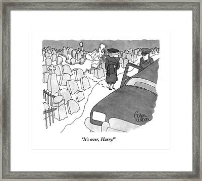 It's Over, Harry! Framed Print by Gahan Wilson