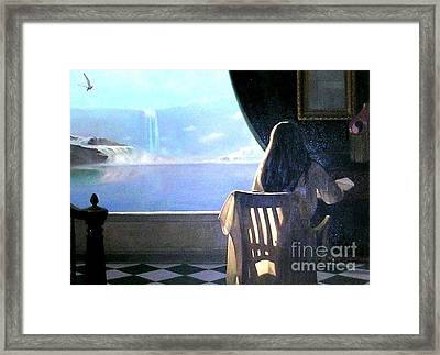 Framed Print featuring the painting It's Over by Marie-Line Vasseur