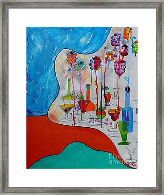 Framed Print featuring the painting It's Party Time by Lyn Olsen