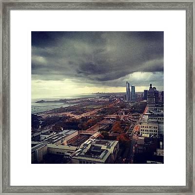 It's Raining Folks Framed Print