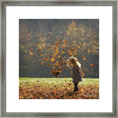 Framed Print featuring the photograph It's Raining Leaves by Carol Lynn Coronios