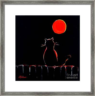 It's Safe Up Here. Framed Print by Joyce Gebauer