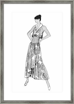 It's Sarong It's Right Framed Print by Sarah Parks