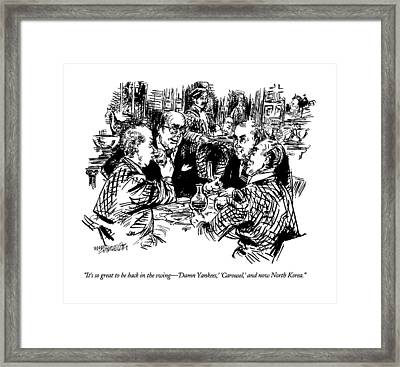 It's So Great To Be Back In The Swing - 'damn Framed Print by William Hamilton