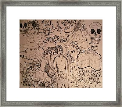 It's So Hard Just To Live Framed Print