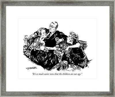 It's So Much Easier Now That The Children Framed Print by William Hamilton