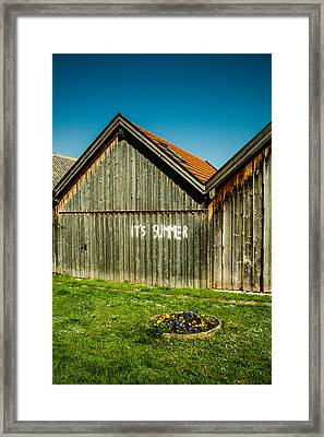 It's Summer Framed Print