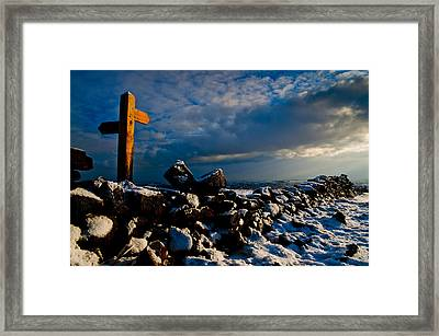 Its That Way Framed Print