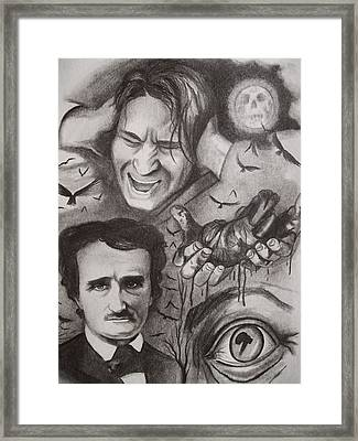 It's The Beating Of That Hideous Heart-edgar Allan Poe Framed Print by Amber Stanford