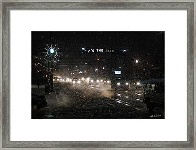Its The Climate - Christmas Snow Framed Print by Mick Anderson