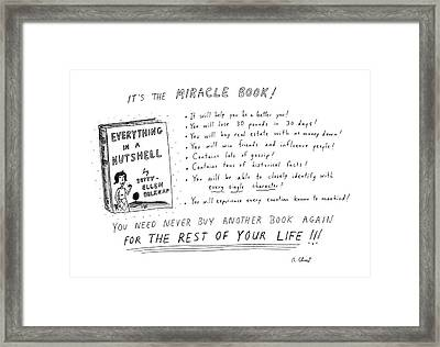 It's The Miracle Book! Framed Print by Roz Chast