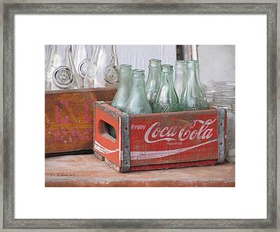 A Look Back Framed Print