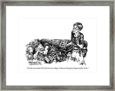 It's This Marvelous Little Liberal-arts College Framed Print by William Hamilton