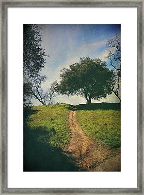 It's Time To Get Up That Hill Framed Print by Laurie Search