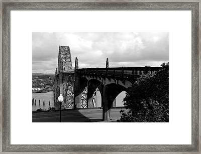 It's Water Under The Bridge  Framed Print by Sheldon Blackwell