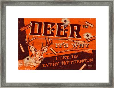 It's Why Deer Framed Print by JQ Licensing