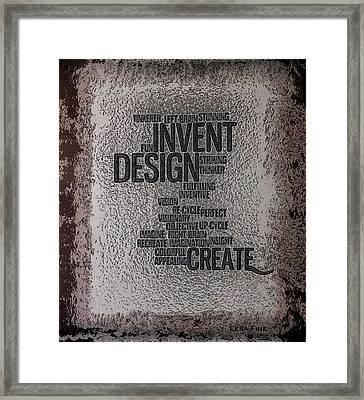 Its Written In Stone So Create Framed Print by Lesa Fine