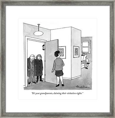 It's Your Grandparents Framed Print by J.B. Handelsman