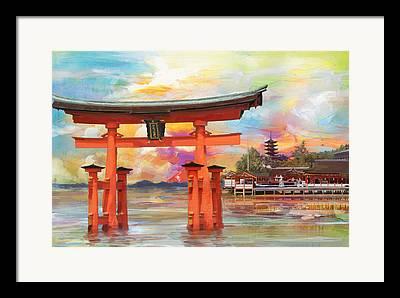 Horyu-ji Framed Prints