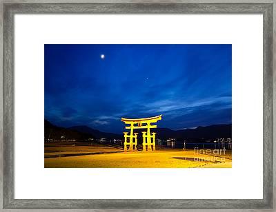 Itsukushima Shrine On Miyajima Island Japan Framed Print