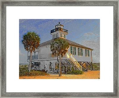 Boca Grande Lighthouse 1890 Framed Print by David Lee Thompson