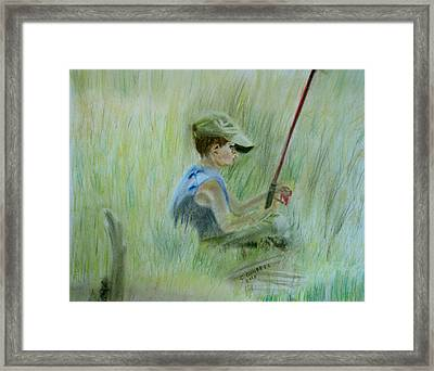 Ivan And The Red Rod Framed Print