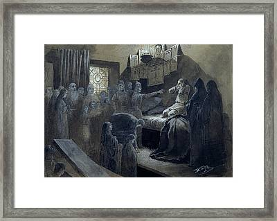 Ivan The Terrible Visited By The Ghosts Of Those He Murdered Framed Print