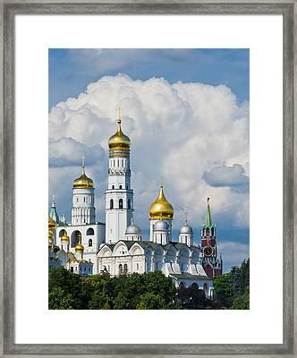 Ivan The Great Bell Tower Of Moscow Kremlin - Featured 3 Framed Print by Alexander Senin