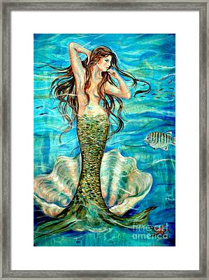 Framed Print featuring the painting Ivana by Linda Olsen
