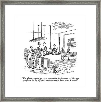 I've Always Wanted To Go To Consecutive Framed Print by George Booth