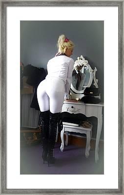 I've Been A Naughty Girl Framed Print by Asa Jones