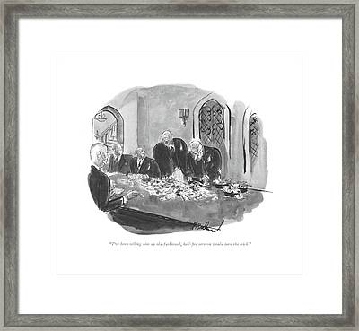 I've Been Telling Him An Old-fashioned Framed Print by Perry Barlow