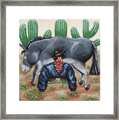 I've Been To The Desert On A Horse With No Name.... Framed Print by Alison  Galvan