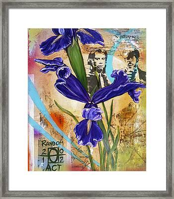 I've Got A Friend Named Iris Framed Print by Andrea LaHue aka Random Act