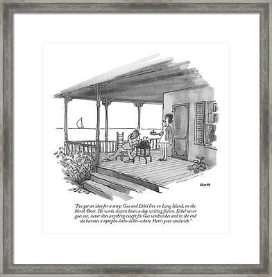 I've Got An Idea For A Story: Gus And Ethel Live Framed Print