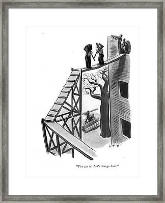 I've Got It! Let's Change Hods Framed Print by Robert J. Day