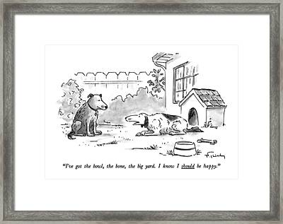 I've Got The Bowl Framed Print by Mike Twohy