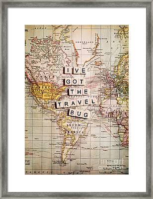 I've Got The Travel Bug Framed Print by Sylvia Cook