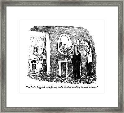 I've Had A Long Talk With Jonah Framed Print by Robert Weber