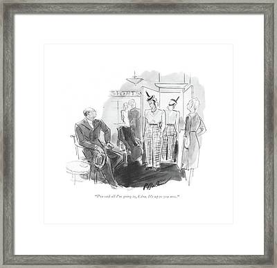 I've Said All I'm Going Framed Print by Perry Barlow