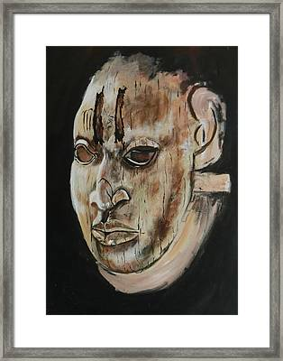 Ivory Benin Mask IIi Framed Print by Amy Williams