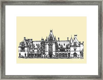 Ivory Biltmore Estate Framed Print by Building  Art