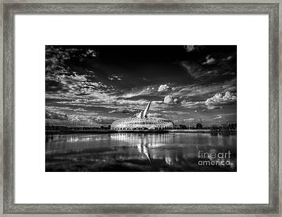 Ivory Tower Of Knowledge Bw Framed Print