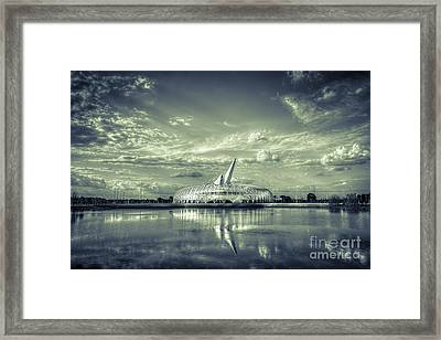 Ivory Tower Of Knowledge- Split Tone Framed Print