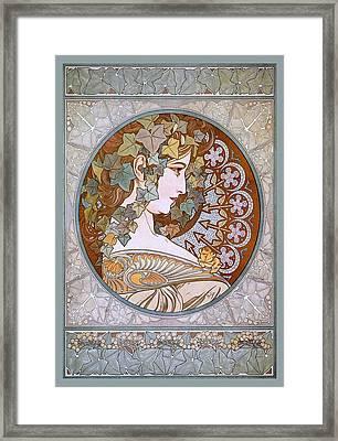 Ivy Framed Print by Alfons Maria Mucha