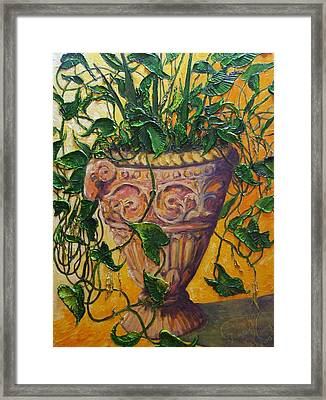 Ivy And Other Greens Framed Print by Paris Wyatt Llanso