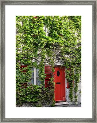 Ivy Cottage Framed Print by Ann Horn