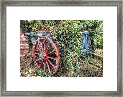 Ivy Covered Cart Framed Print by Mal Bray
