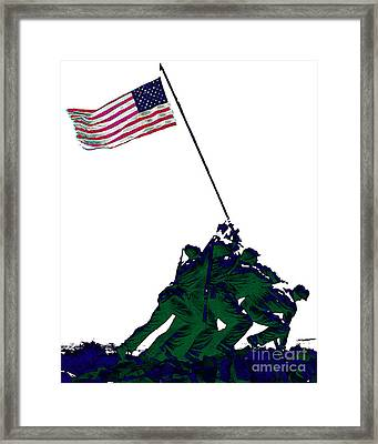 Iwo Jima 20130210-white Framed Print by Wingsdomain Art and Photography