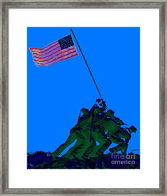 Iwo Jima 20130210m88 Framed Print by Wingsdomain Art and Photography